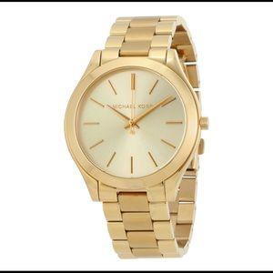 Michael Kors Slim Runway Gold Watch